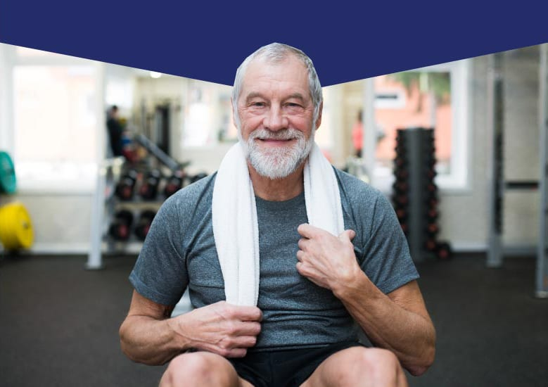 older man working out without knee pain