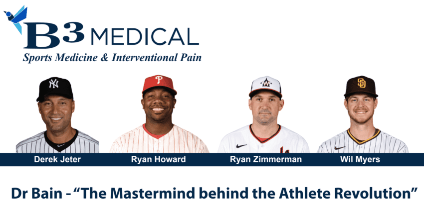 pro athlete trained by B3 Medical